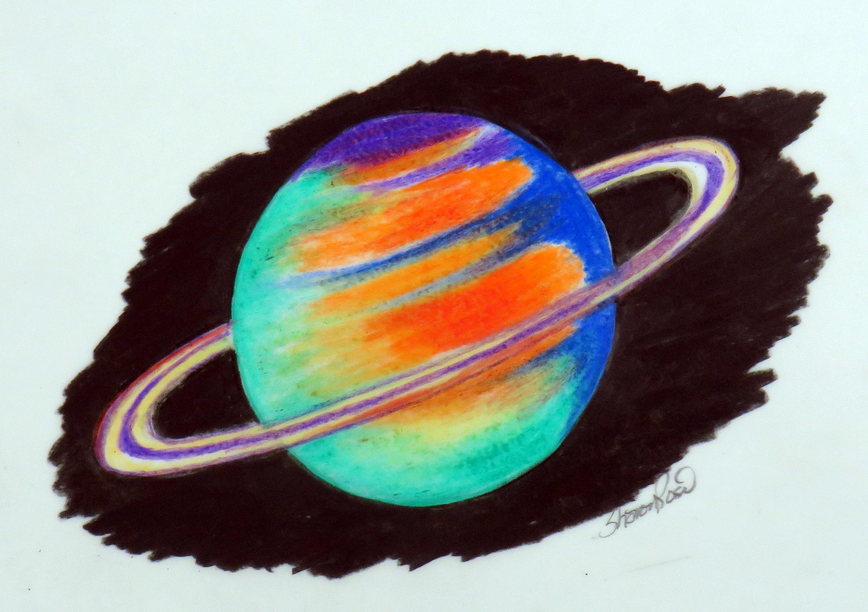 сатурн рисунок цветной лучше начинать делать