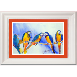 parrots in a row live icon